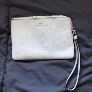White and gold Coach wristlet!